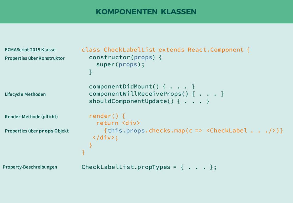 KOMPONENTEN KLASSEN class CheckLabelList extend...