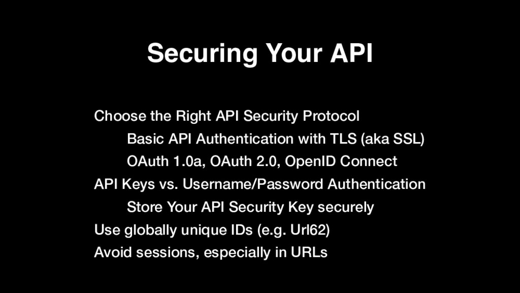 Securing Your API Choose the Right API Security...