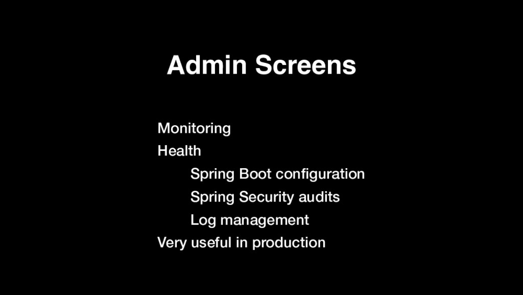 Admin Screens Monitoring Health Spring Boot con...