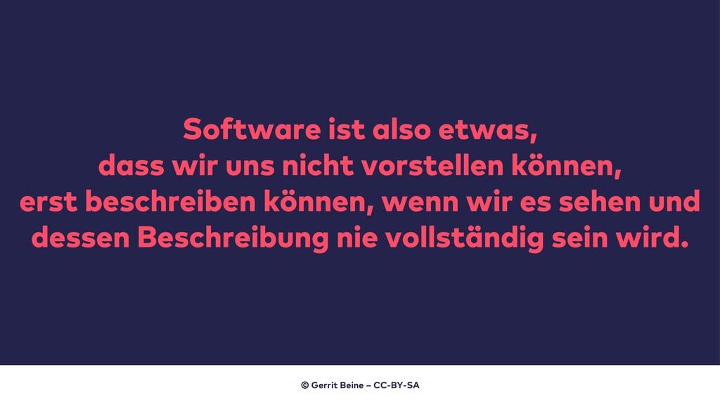 Software ist also etwas, dass wir uns nicht vor...