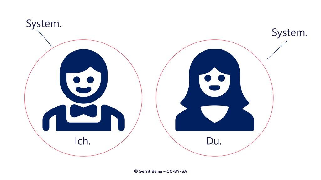 Ich. System. Du. System. © Gerrit Beine – CC-BY...