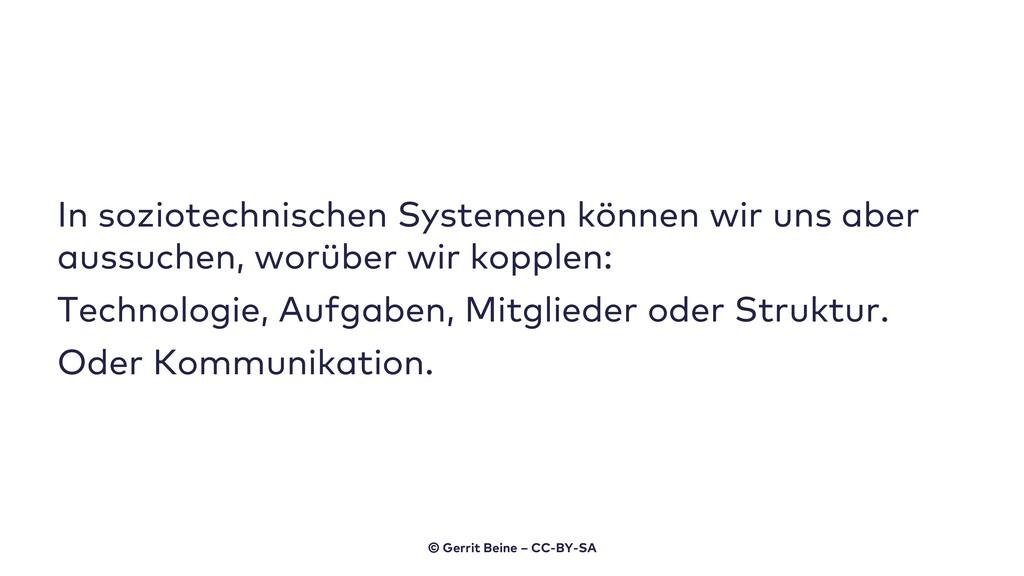 In soziotechnischen Systemen können wir uns abe...