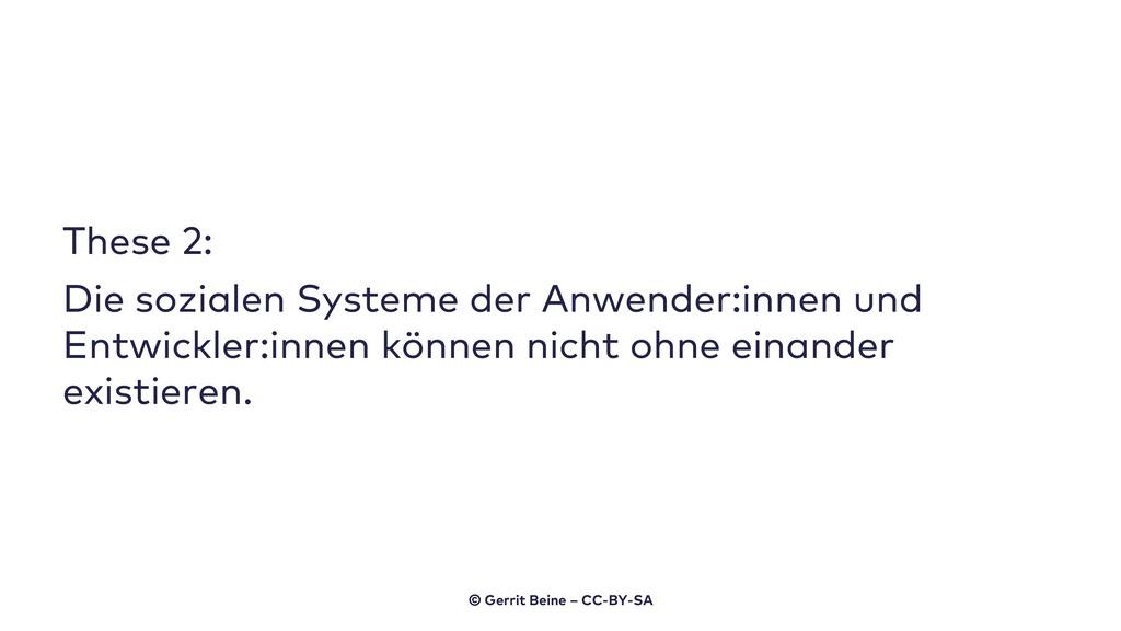 These 2: Die sozialen Systeme der Anwender:inne...