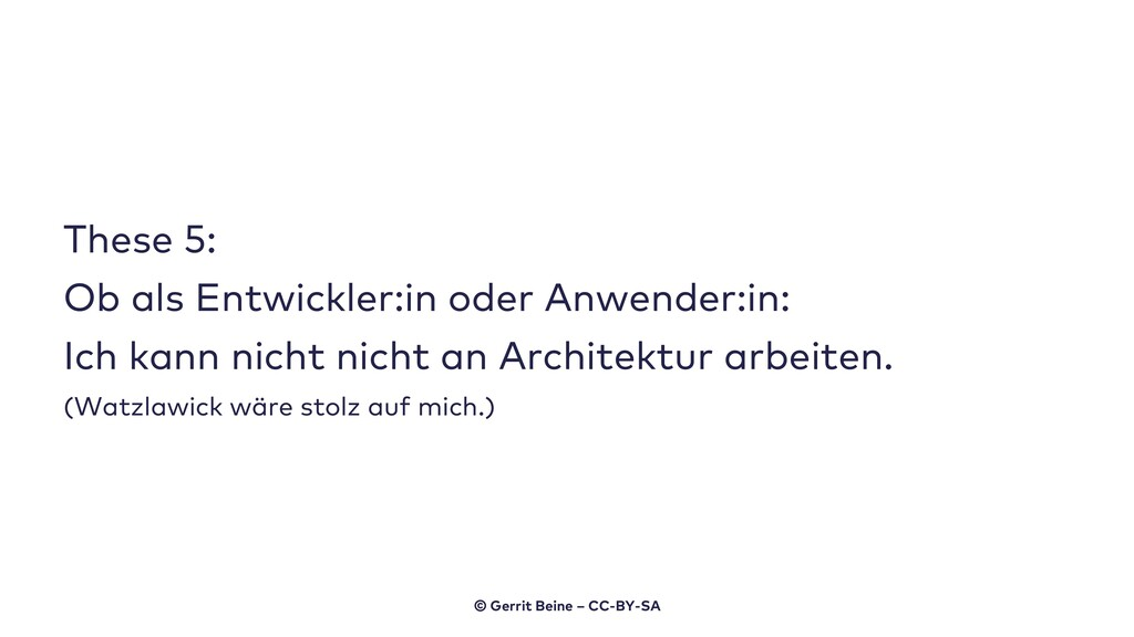 These 5: Ob als Entwickler:in oder Anwender:in:...