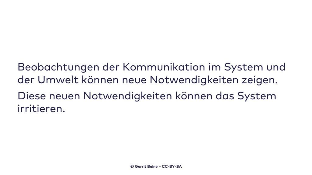 Beobachtungen der Kommunikation im System und d...