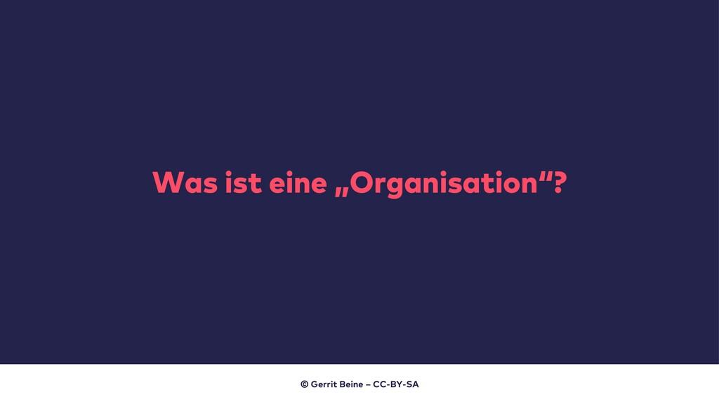 """Was ist eine """"Organisation""""? © Gerrit Beine – C..."""