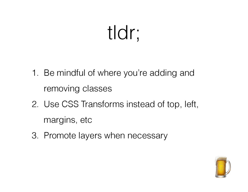 tldr; ! 1. Be mindful of where you're adding an...