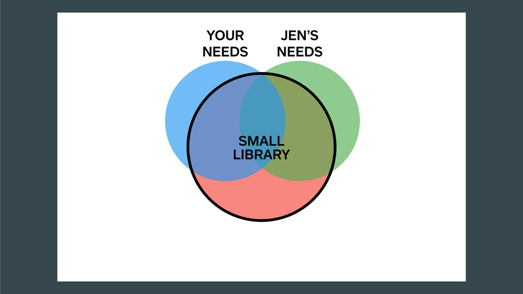 JEN'S NEEDS YOUR NEEDS SMALL LIBRARY