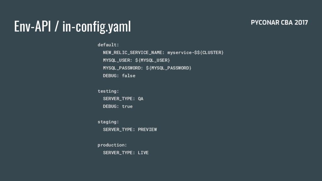 Env-API / in-config.yaml default: NEW_RELIC_SER...
