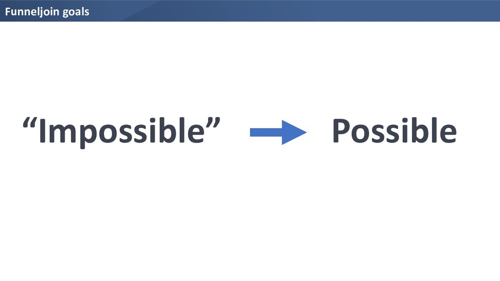 "Funneljoin goals ""Impossible"" Possible"