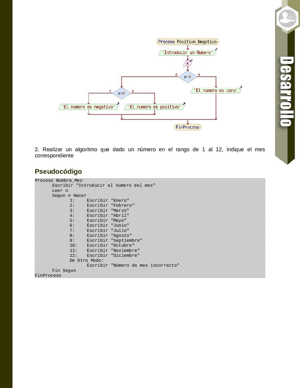 2. Realizar un algoritmo que dado un número en ...