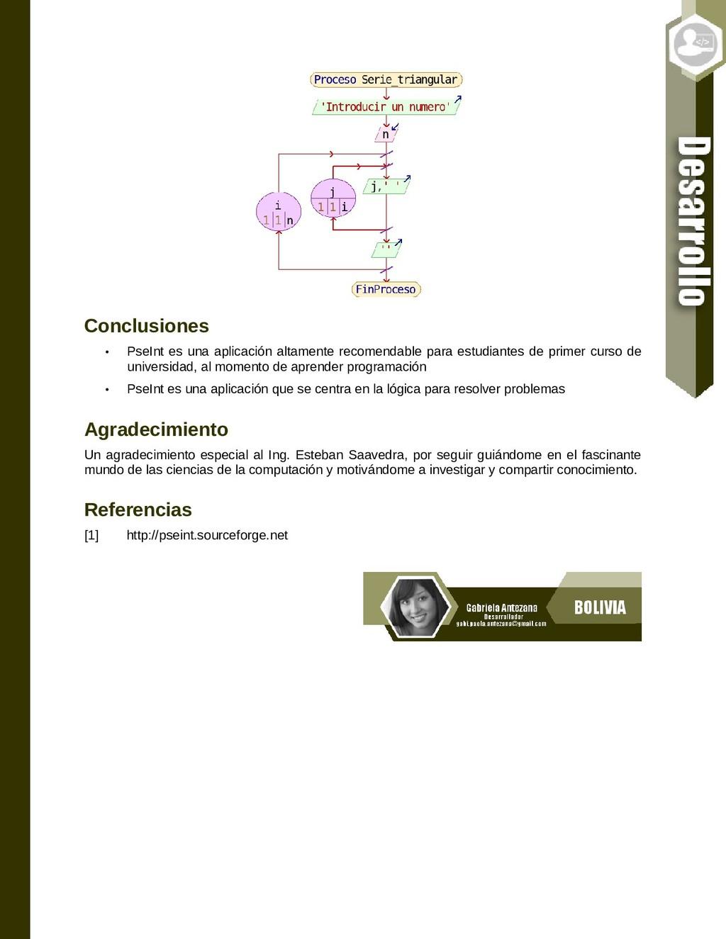 Conclusiones • PseInt es una aplicación altamen...