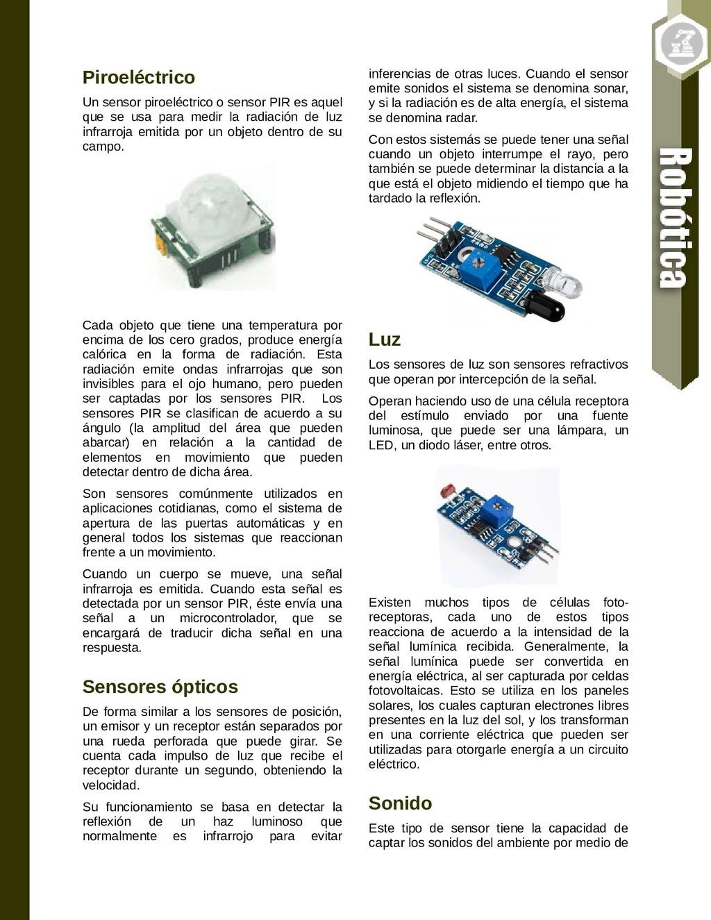 Piroeléctrico Un sensor piroeléctrico o sensor ...