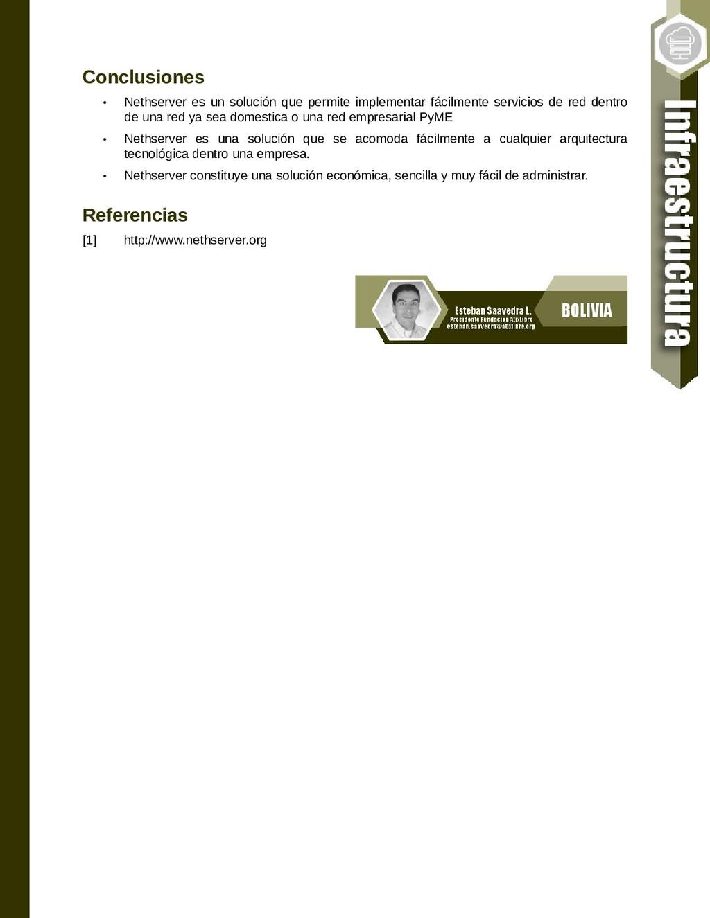 Conclusiones • Nethserver es un solución que pe...