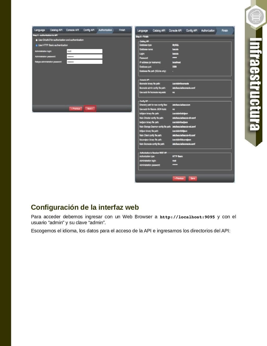 Configuración de la interfaz web Para acceder d...