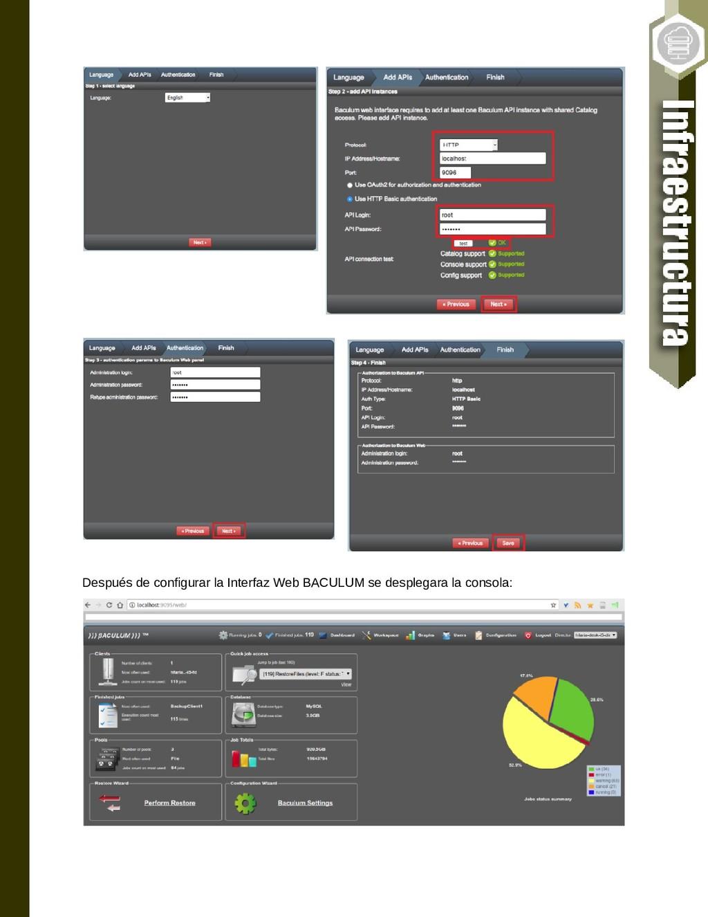 Después de configurar la Interfaz Web BACULUM s...