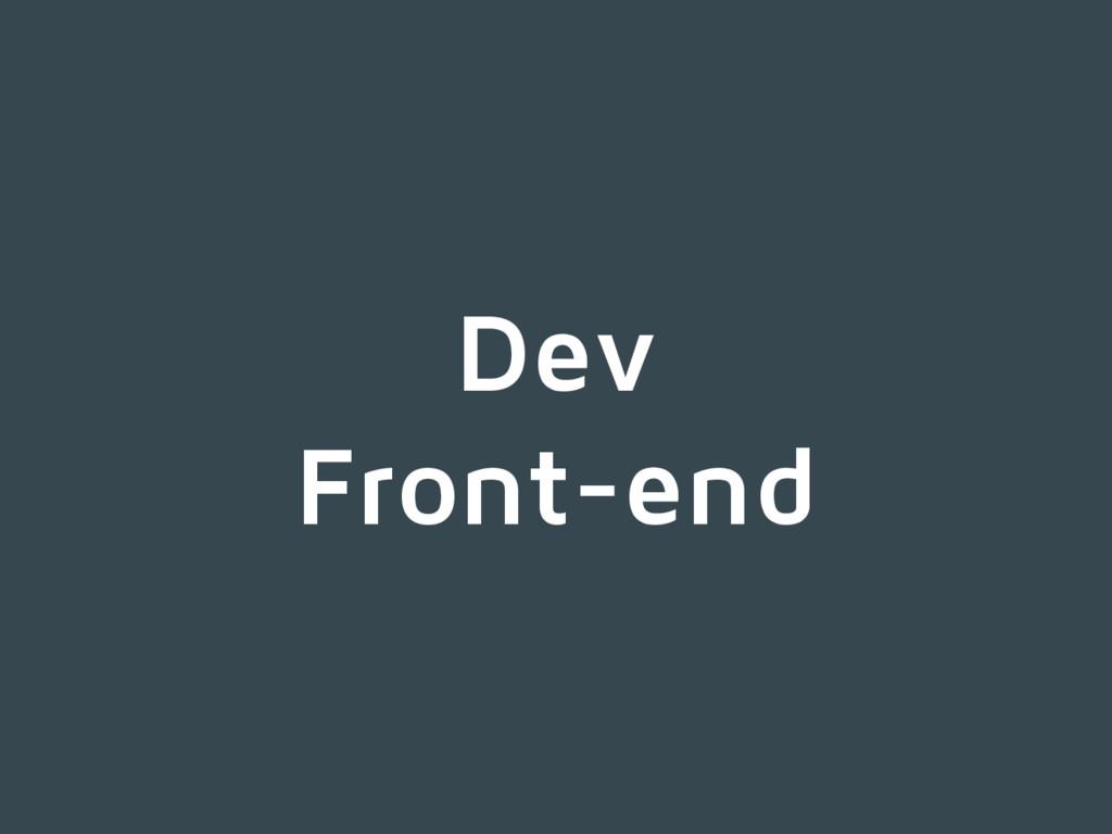 Dev Front-end