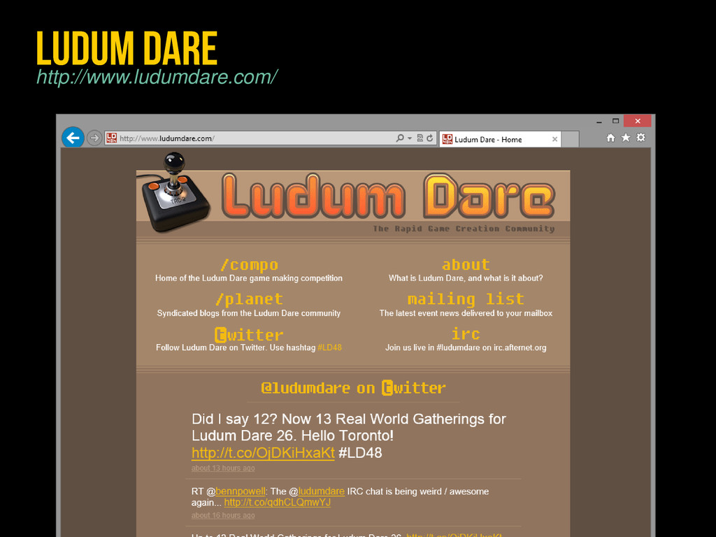 http://www.ludumdare.com/