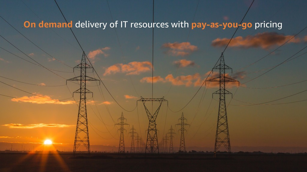 On demand delivery of IT resources with pay-as-...