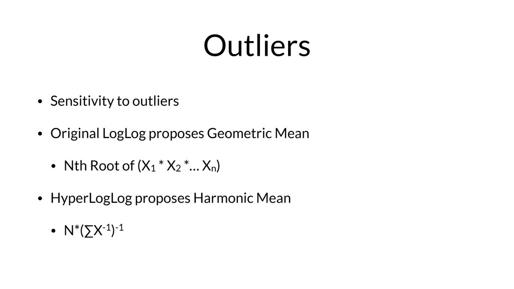 Outliers • Sensitivity to outliers • Original L...