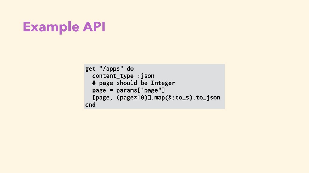 """Example API get """"/apps"""" do content_type :json #..."""
