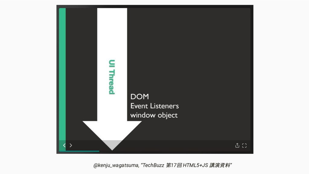 """@kenju_wagatsuma, """"TechBuzz 第17回 HTML5+JS 講演資料"""""""