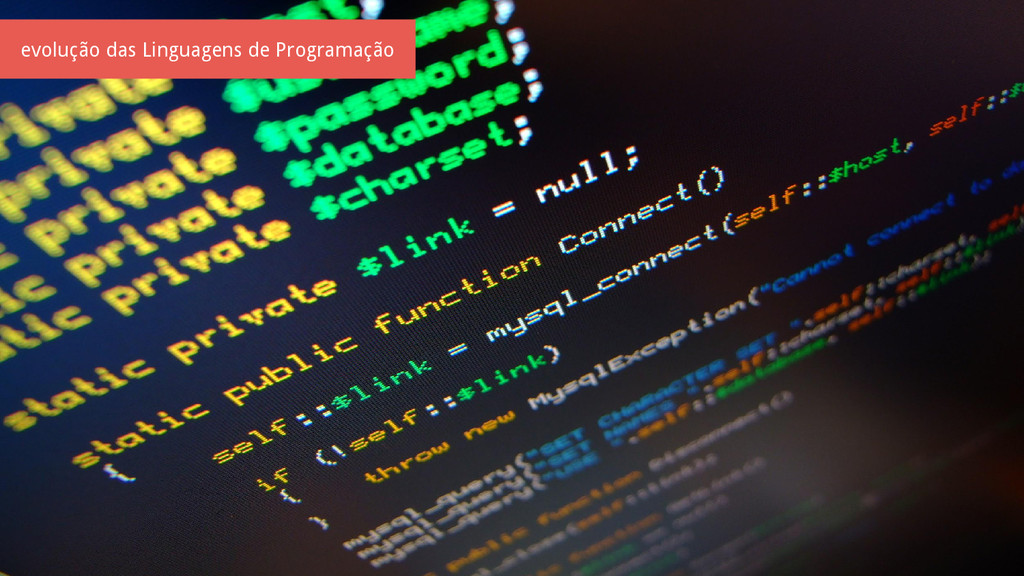 evolução das Linguagens de Programação