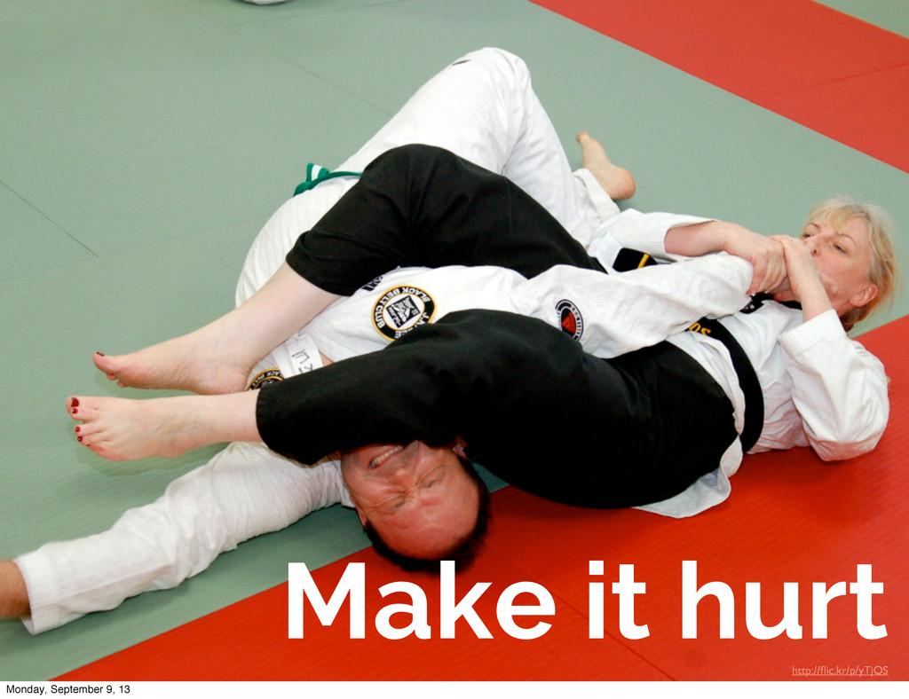 Make it hurt http://flic.kr/p/yTjQS Monday, Sept...