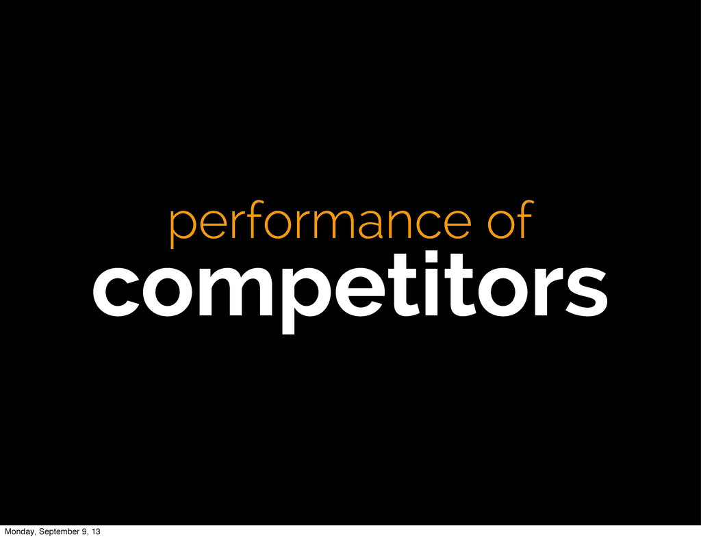 performance of competitors Monday, September 9,...