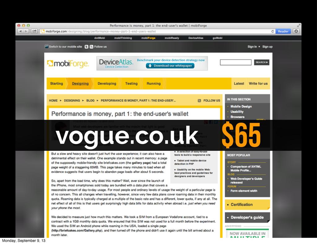 vogue.co.uk $65 Monday, September 9, 13