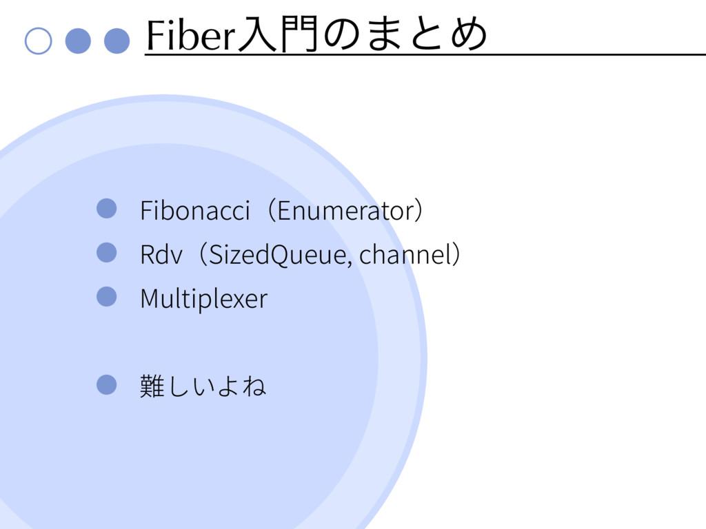 Fiberೖͷ·ͱΊ Fibonacci Enumerator Rdv SizedQueue...