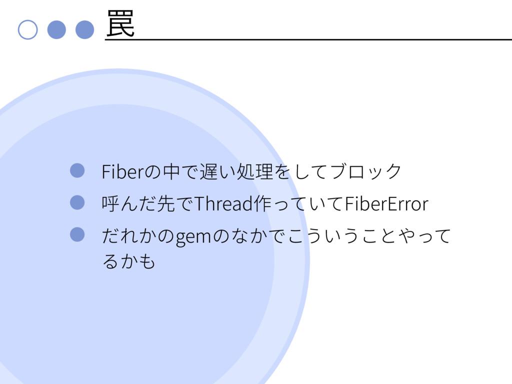 ᠘ Fiber Thread FiberError gem
