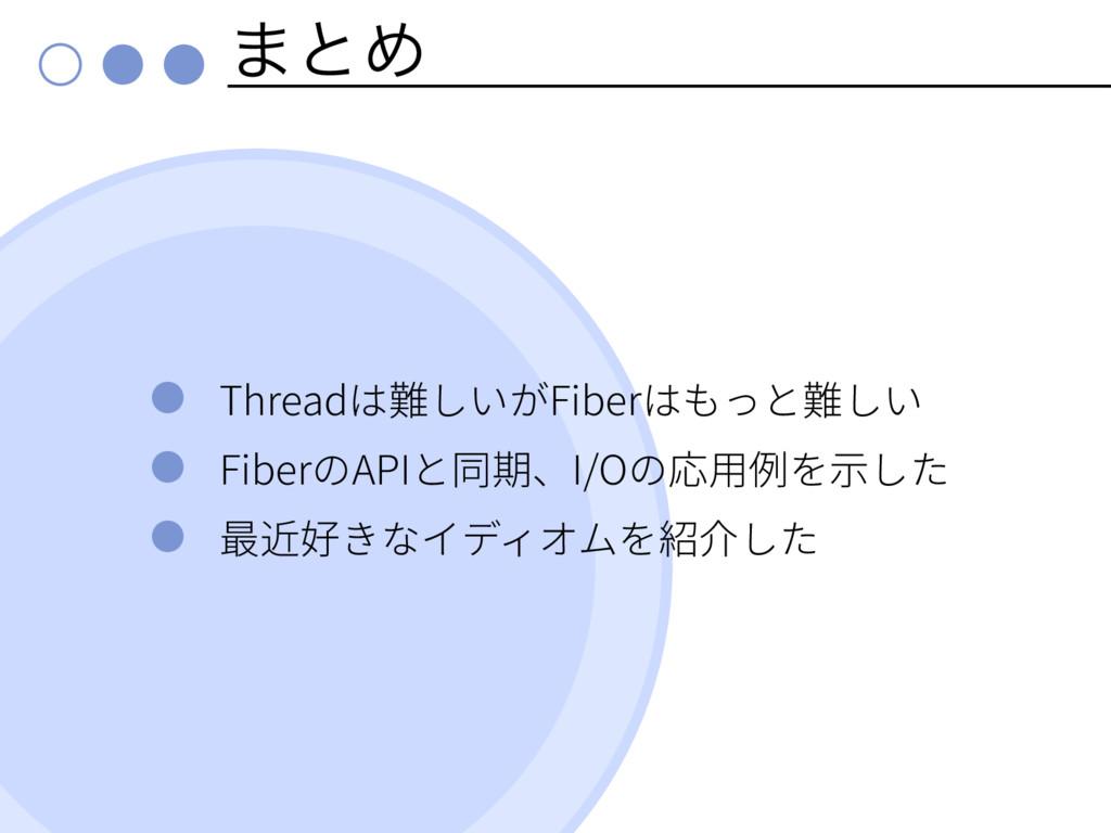 ·ͱΊ Thread Fiber Fiber API I/O
