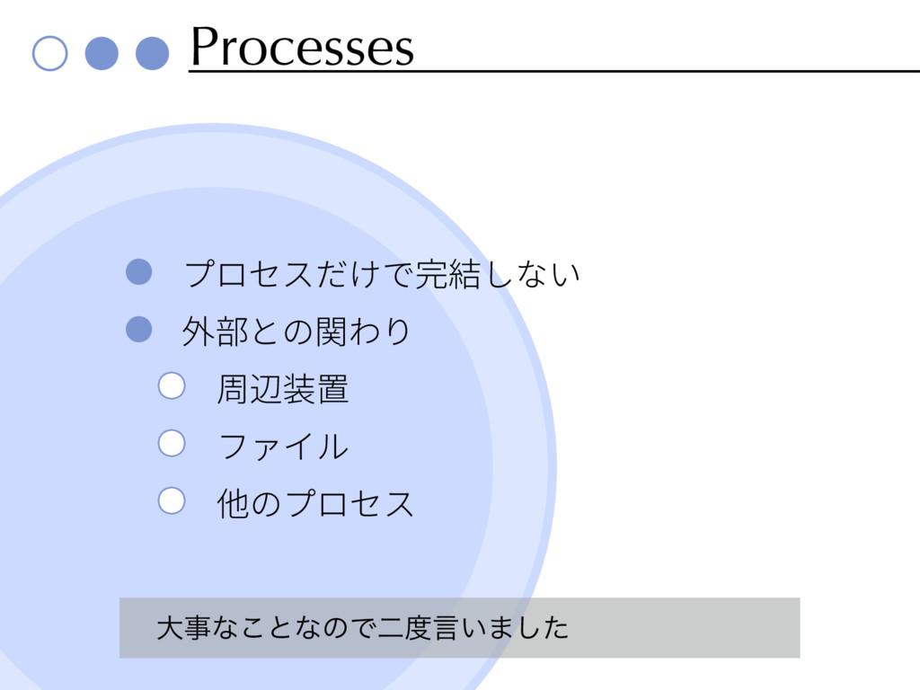 Processes େͳ͜ͱͳͷͰೋݴ͍·ͨ͠