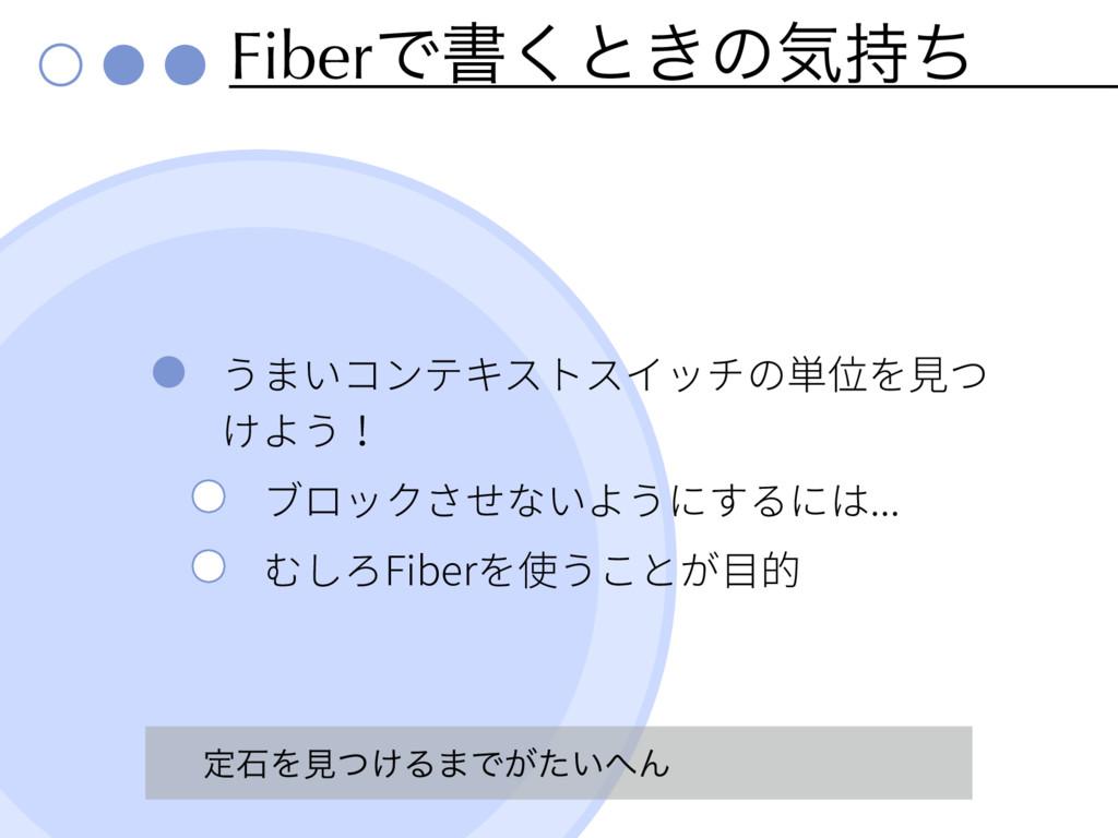 FiberͰॻ͘ͱ͖ͷؾͪ ... Fiber ఆੴΛݟ͚ͭΔ·Ͱ͕͍ͨΜ