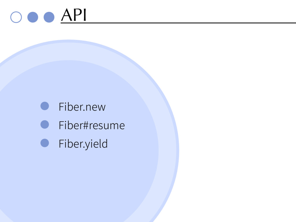 API Fiber.new Fiber#resume Fiber.yield