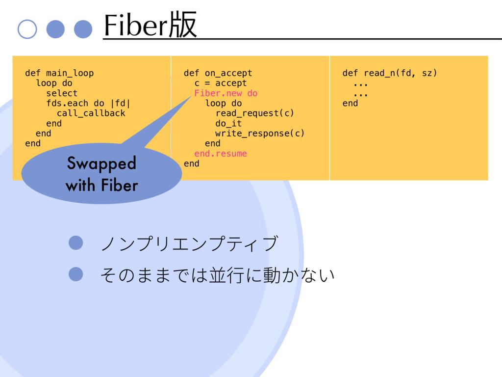 Fiber൛ def main_loop loop do select fds.each do...