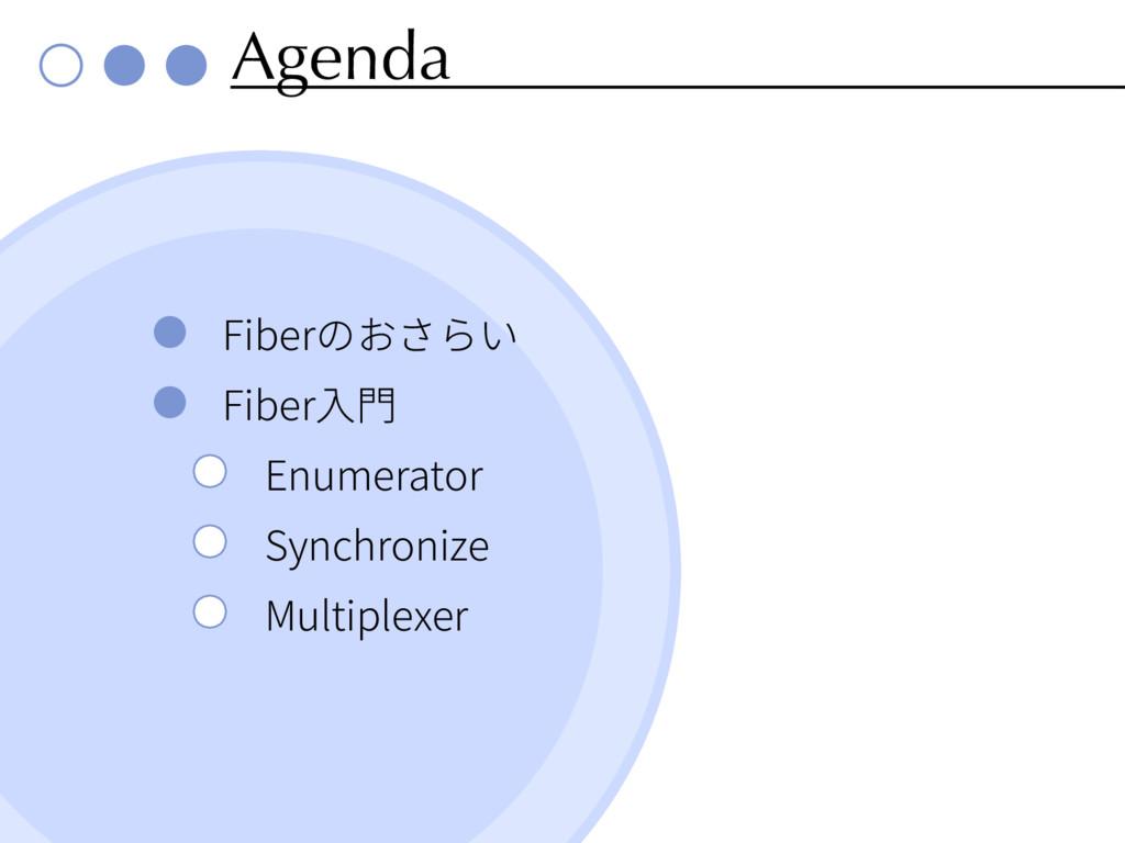 Agenda Fiber Fiber Enumerator Synchronize Multi...
