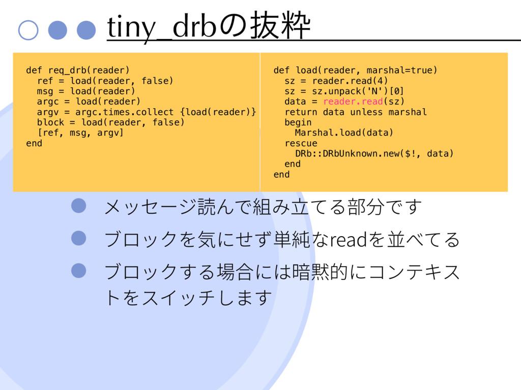 tiny_drbͷൈਮ read def req_drb(reader) ref = load...