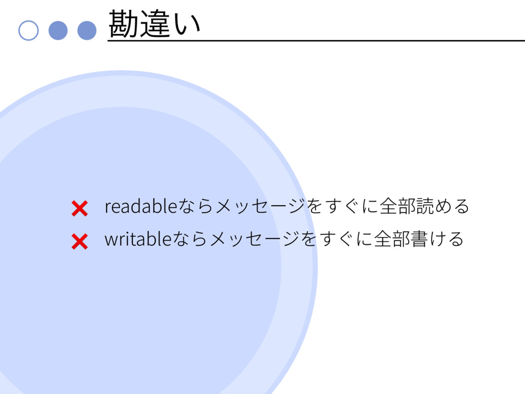 צҧ͍ ❌ readable ❌ writable