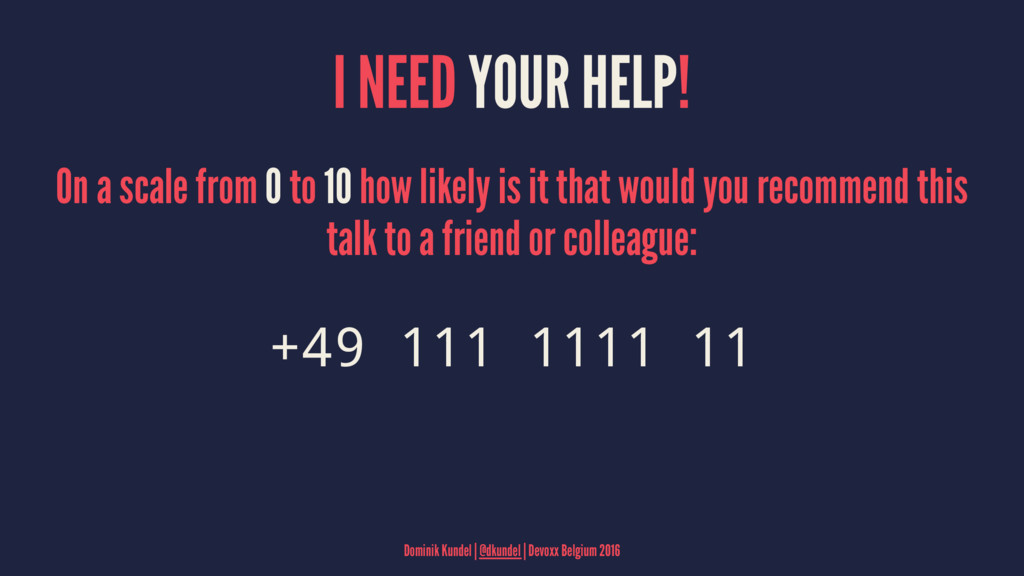 I NEED YOUR HELP! On a scale from 0 to 10 how l...