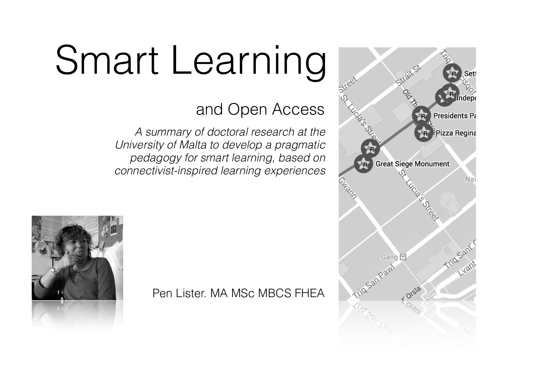 Smart Learning and Open Access Pen Lister. MA M...