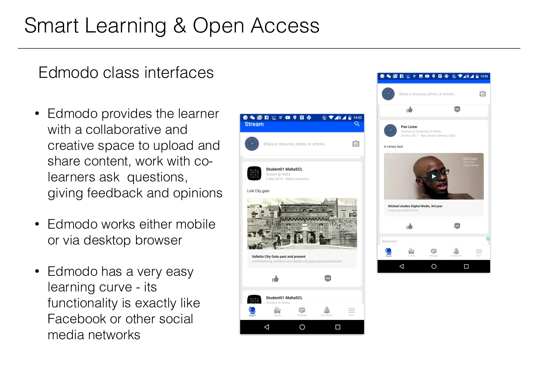 Smart Learning & Open Access Edmodo class inter...