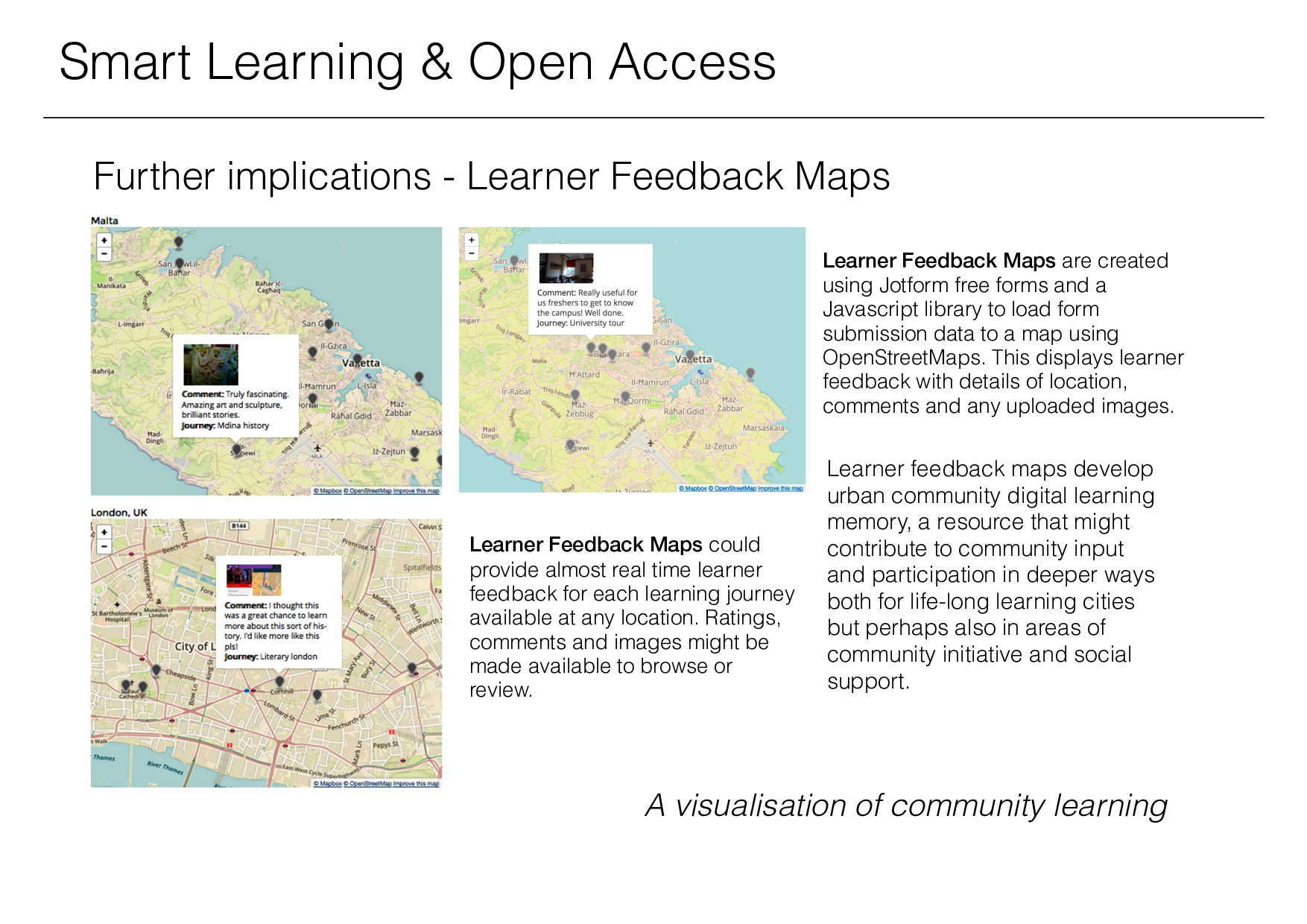 Learner Feedback Maps could provide almost real...