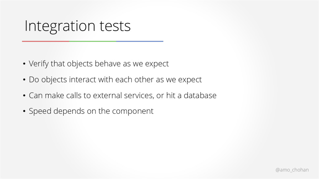 @amo_chohan Integration tests • Verify that obj...