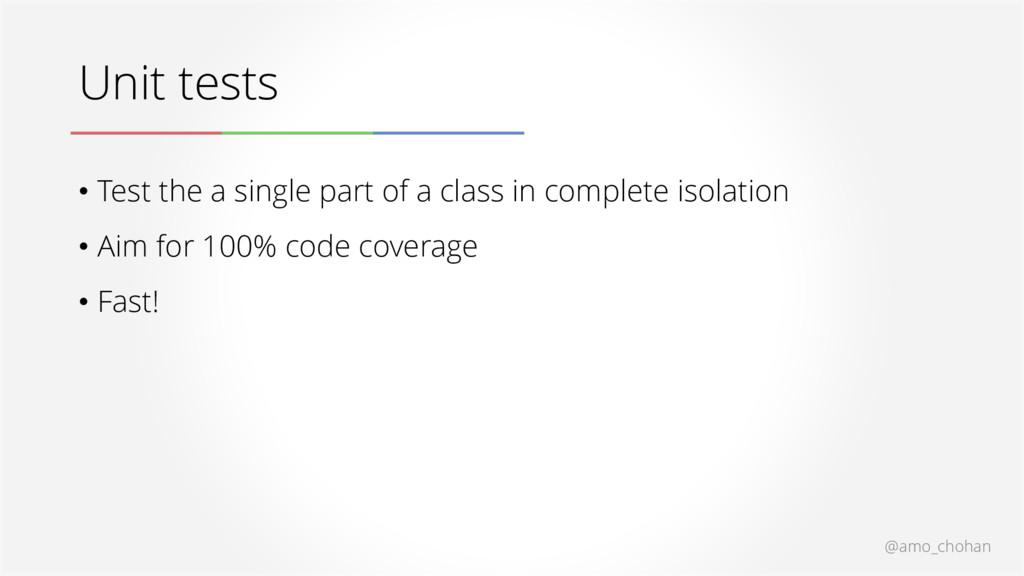 @amo_chohan Unit tests • Test the a single part...