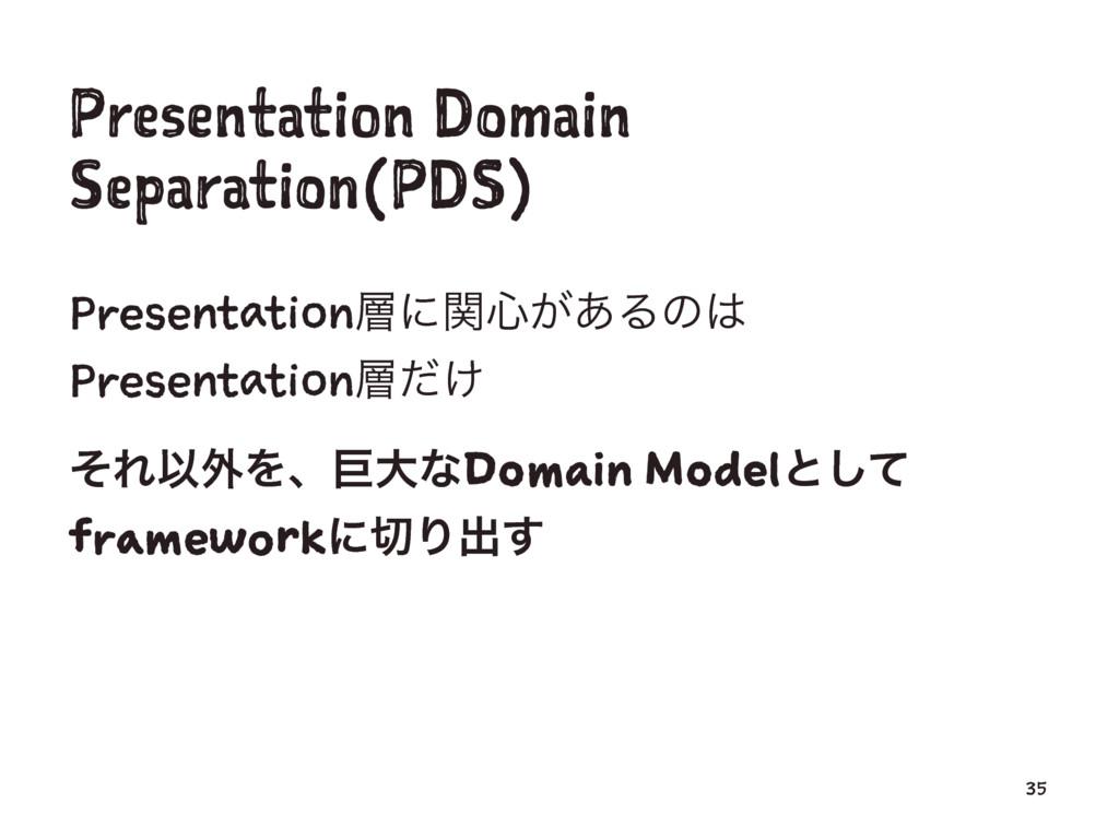 Presentation Domain Separation(PDS) Presentatio...