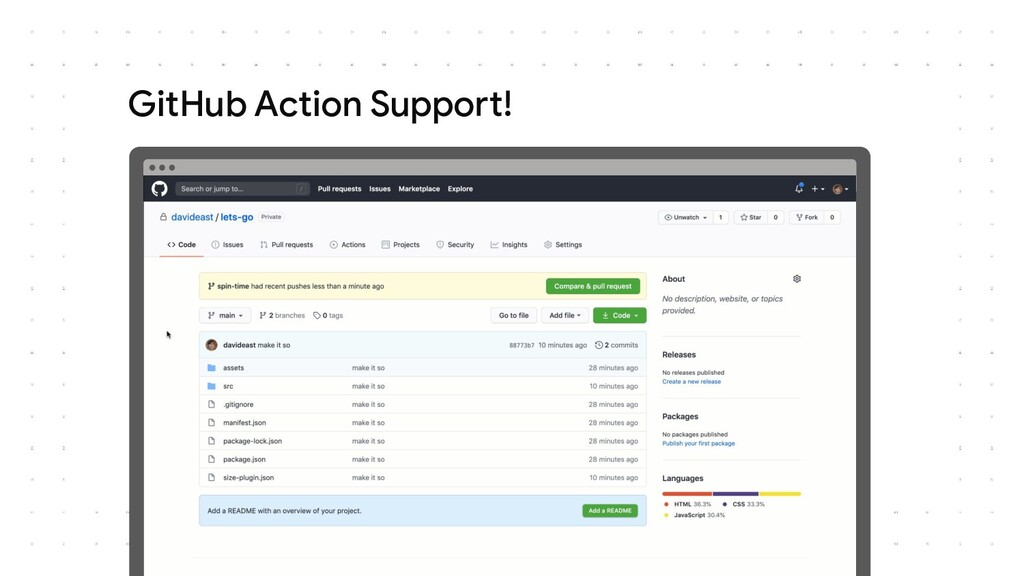 GitHub Action Support!