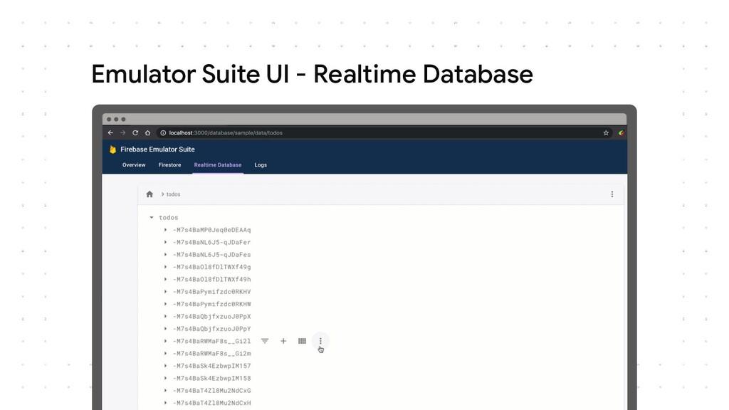 Emulator Suite UI - Realtime Database