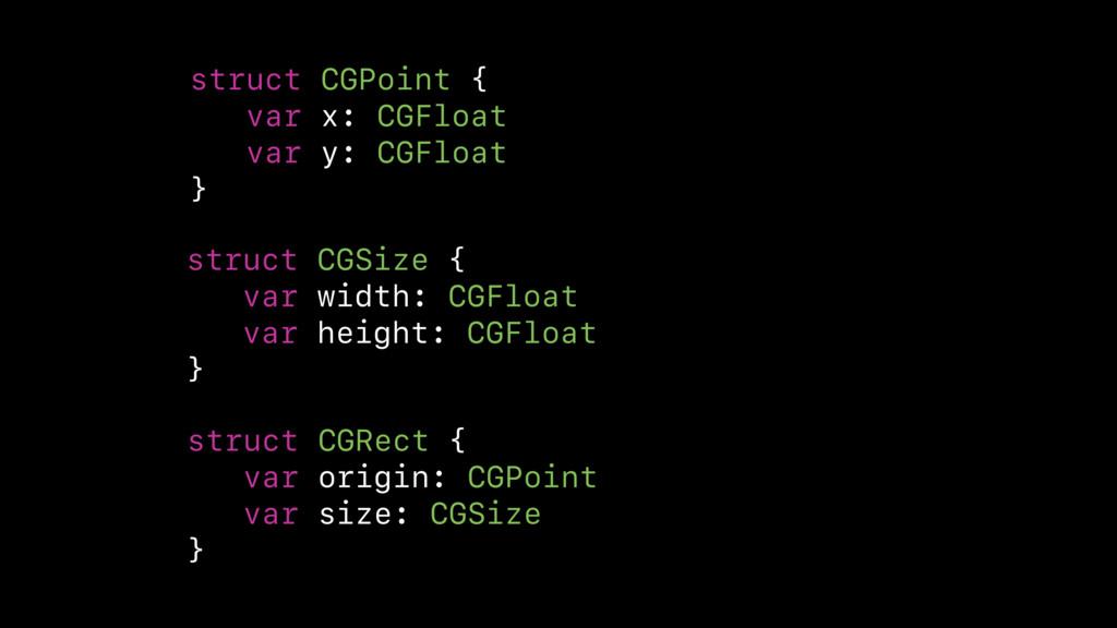 struct CGPoint { var x: CGFloat var y: CGFloat ...
